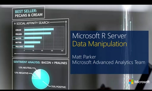 Introduction to Microsoft R Server, Session 3: Data Management