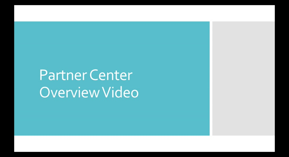 Partner Center overview