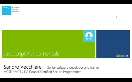 Javascript fundamentals - Video 1