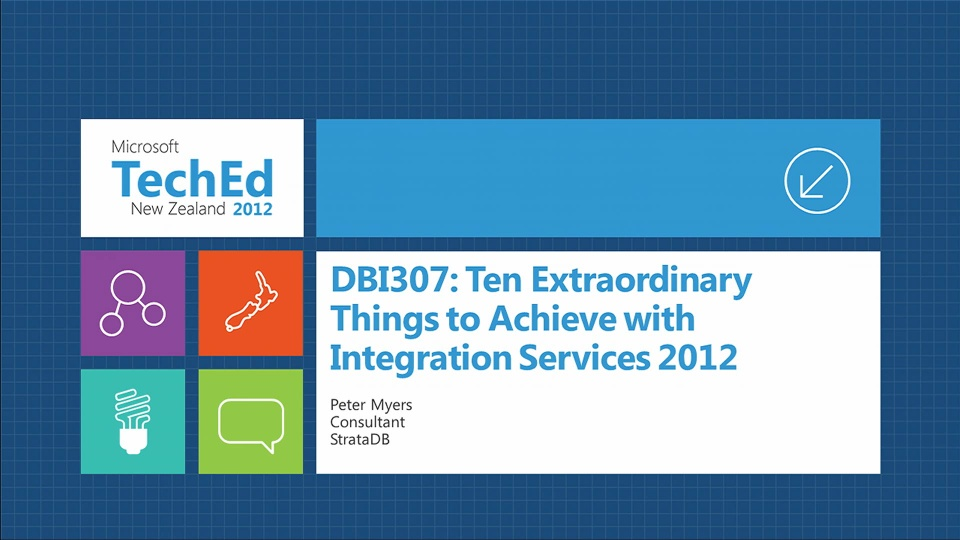 Ten Extraordinary Things to Achieve with Integration Services 2012