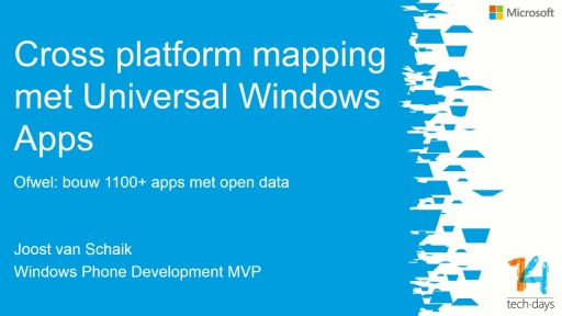 Crossplatform development using Mapping data and features