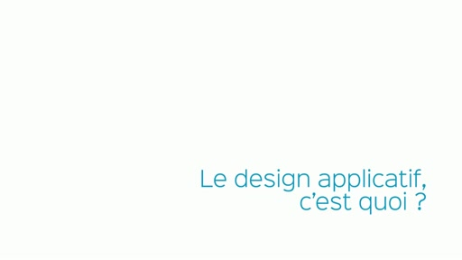 01 - Définition du design d'applications