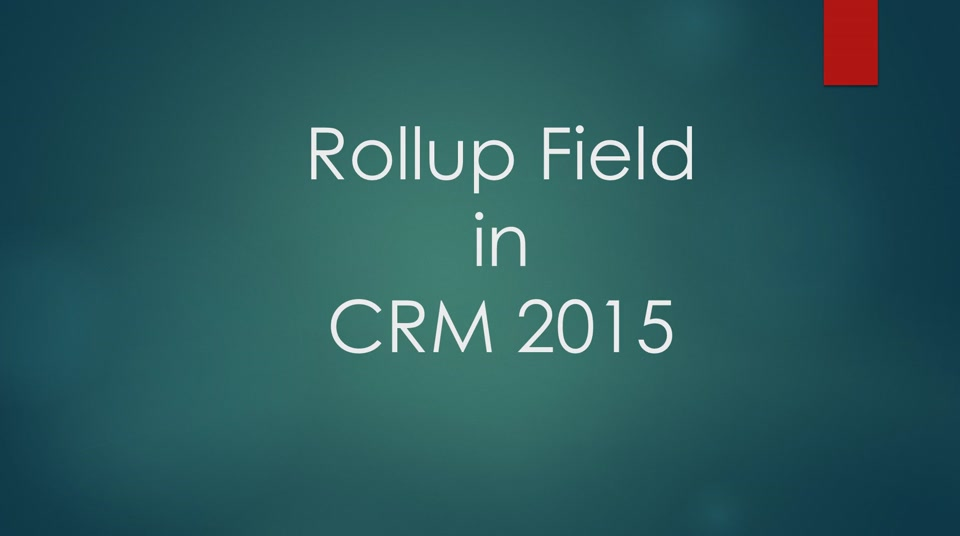 CRM Rollup field