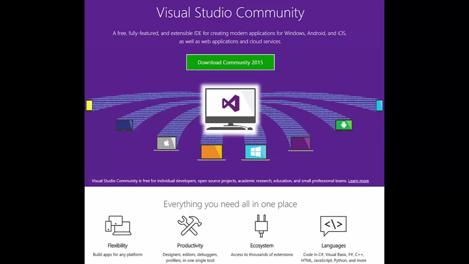 Installing Visual Studio 2015 Community