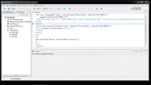 Java Applications in Windows Azure Cloud Services using Eclipse