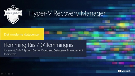 Hyper-V Recovery Manager