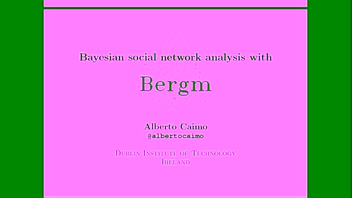 Bayesian social network analysis with Bergm