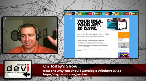 Microsoft DevRadio: Reasons Why You Should Develop a Windows 8 App