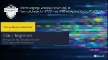 Ekstern adgang i Windows Server 2012 R2 – nye muligheder for BYOD med WAP, Workplace Join og Work Folders
