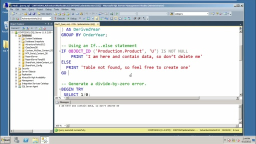 Querying Microsoft SQL Server 2012 Databases: (07) Programming with T-SQL