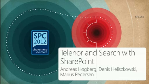 Customer Showcase: Telenor and Search with SharePoint