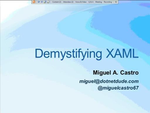 NYC DevReady: MVVM - Session 1 (of 5) - Demystifying XAML