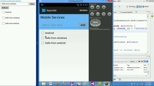 Episode 104 - Building cross platform Android and Windows Store apps using Windows Azure Mobile Services