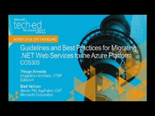 Guidelines and Best Practices for Migrating .NET Web Services to the Azure Platform