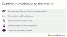 Mod 3 - Runtime Provisioning in Windows 10