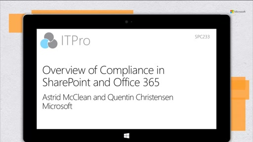 Overview of Compliance in SharePoint and Office 365