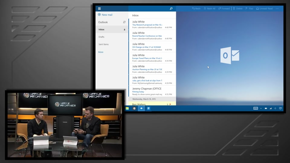 Outlook 2016 On The Desktop, Windows 10, IOS & Android