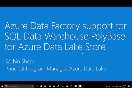 Azure Data Factory makes it even easier and convenient to uncover insights from data when using Data Lake Store with SQL Data Warehouse