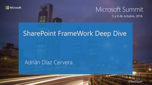 T9 - Productivity: SharePoint FrameWork Deep Dive