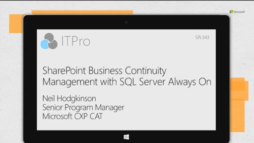 SharePoint Business Continuity Management with SQL Server Always On