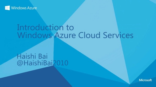 Introduction to Windows Azure Cloud Services
