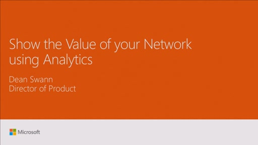 Show the value of your network using analytics