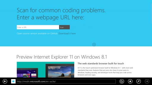 IE11: Back/Forward Navigation with Swipe Gesture