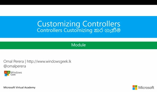(6) - Controllers Customize කර ගැනීම - (Customizing Controllers)