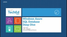 Windows Azure SQL Database Deep Dive
