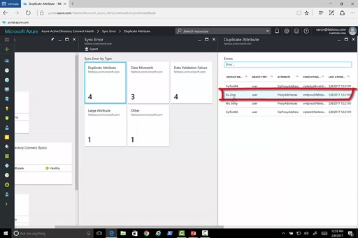 Monitor sync errors with Azure Active Directory Connect Health