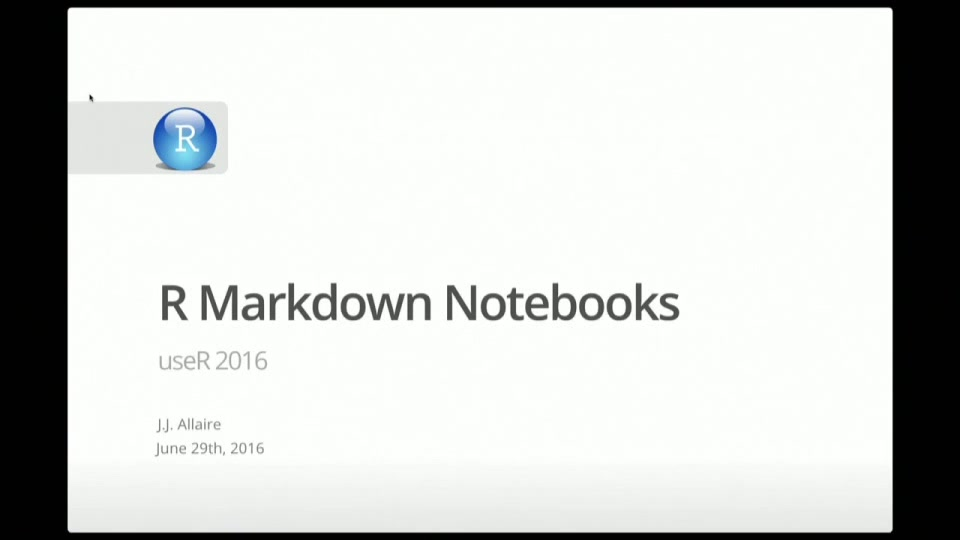 Notebooks with R Markdown