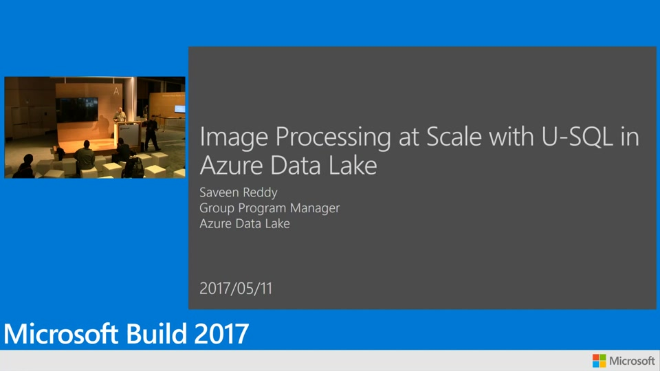 Image processing at scale using U-SQL in Azure Data Lake