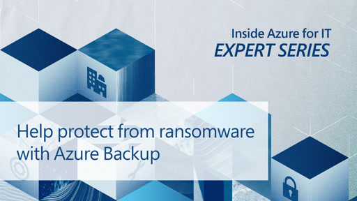 Help protect from ransomware with Azure Backup