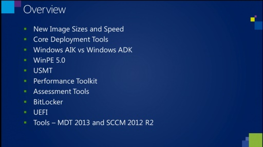 What's New in the MDT 2013