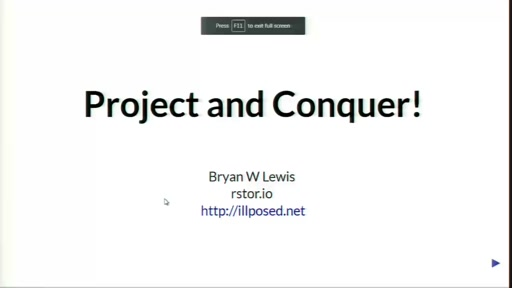 Closing Session: Bryon Lewis - Project and Conquer