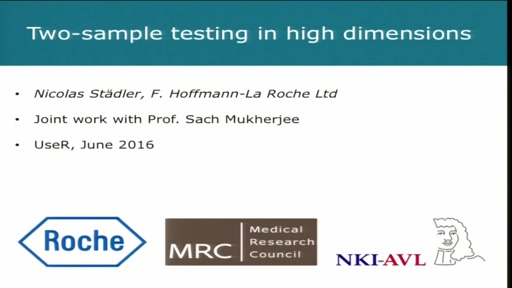 Two-sample testing in high dimensions