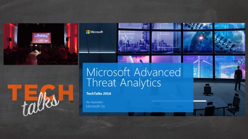 Tech Talks 2016 F5 Stage Microsoft Advanced Threat Analytics