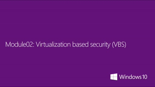 02| Virtualization based security