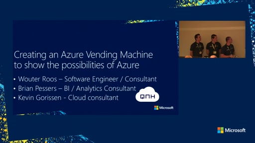 Creating an Azure Vending Machine to show the possibilities of Azure