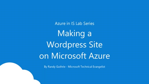 How To Create A WordPress Blog/Site on Microsoft Azure