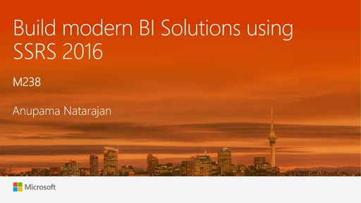 Build modern Enterprise BI Solutions using SSRS 2016