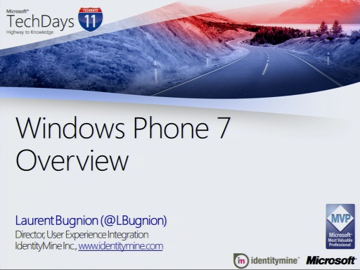 TechDays 11 Basel - Windows Phone 7 Overview
