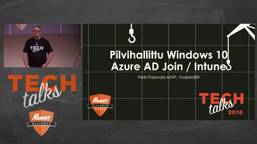 Tech Talks 2016 Citrix Stage Pilvihallittu Windows 10 Azure AD Join / Intune