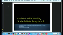 FlashR: Enable Parallel, Scalable Data Analysis in R