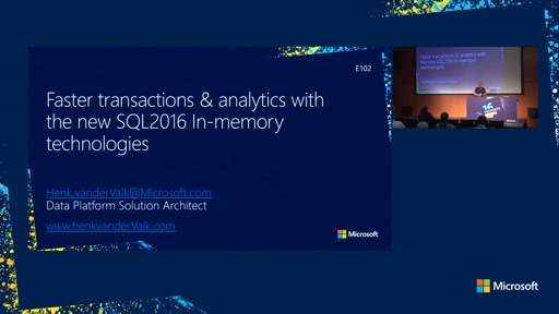 Faster transactions & Analytics with the new SQL Server 2016 In-Memory