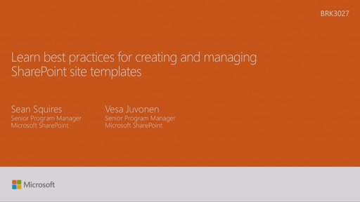 Learn best practices for creating and managing SharePoint Site Templates
