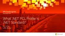 What Dotnet PCL Profile is .NET Standard?