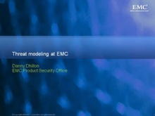 Threat Modeling at EMC & Counterpoint: Threat Modeling at Microsoft