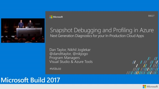 Snapshot debugging and profiling in Microsoft Azure: Next generation diagnostics for your in-production cloud apps