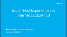 Touch-First Experiences in IE10